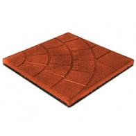 Резиновая плитка 350x350 (толщина 20 мм)